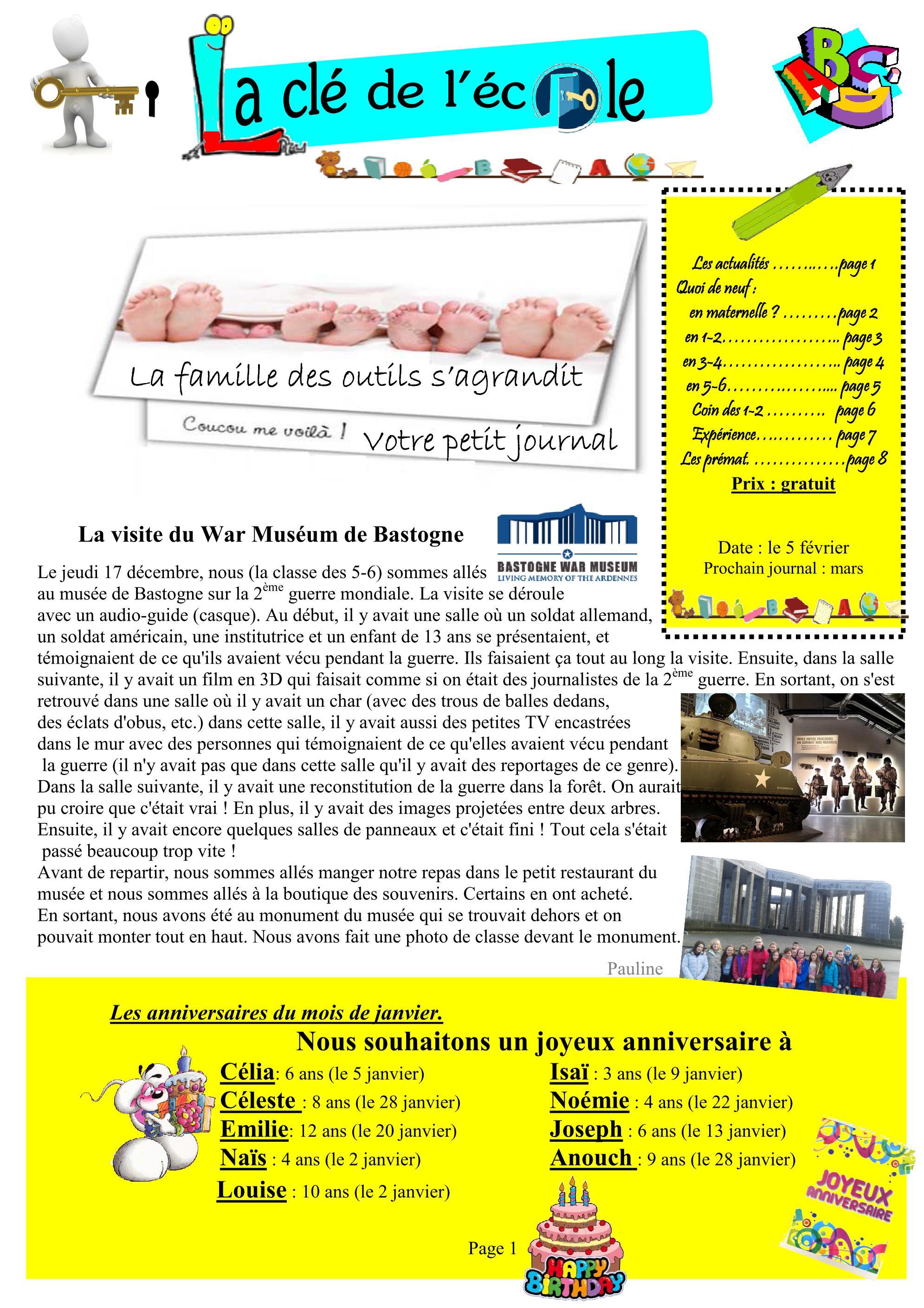 Le journal de l'école en version numérique… | Ecole ...